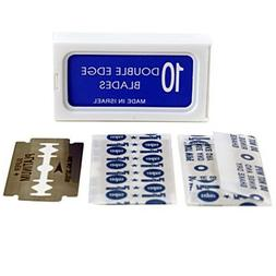 100 Crystal Double Edge Stainless Safety Razor Blades - AKA