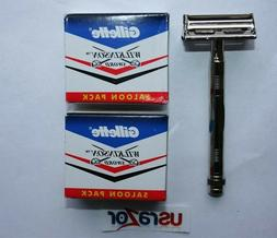 *100 Gillette Double Edge Blades & Classic Butterfly Metal S