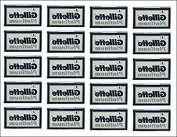100 Gillette Platinum Blue Double Edge Safety Razor Blades,