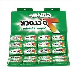 100 st Razor Blades Gillette 7 o'Clock Super Stainless Safet