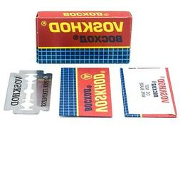 100 Voskhod Teflon Coated Double Edge Safety Razor Blades-SM