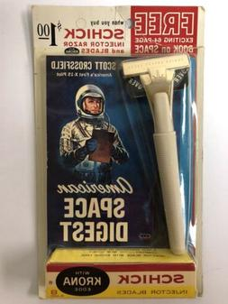 1963 Schick Shaving Razor Free Space Digest Book Mint In Pac