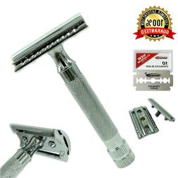 """3.5"""" HANDLE STAINLESS STEEL DOUBLE EDGE SAFETY RAZOR MADE IN"""