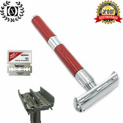 "4"" Long Handle Butterfly Double Edge Safety Razor Rasoir for"