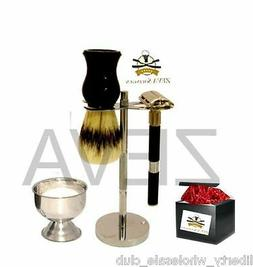 5 Pieces DE Butterfly Opening Safety Razor Shaving Gift Set/