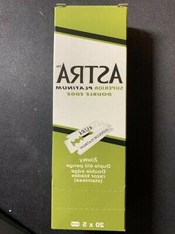 50 ASTRA SUPERIOR PLATINUM DOUBLE EDGE SAFETY RAZOR BLADES U