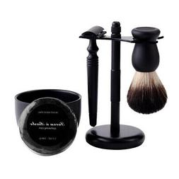 5in1 Safety Razor Shaving Kit Shave Set with Razor Brush Sta