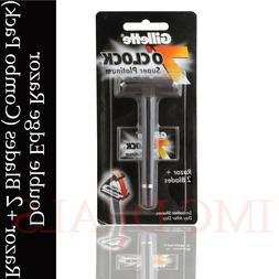 Gillette 7 O' Clock Super Platinum Double Edge Safety Razor