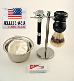 BEST MEN Shaving kit Gift Vintage Butterfly Safety Razor Hol