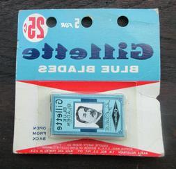 Gillette Blue Blades Rare Rack Pack NOS