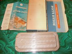 ROLLS RAZOR WITH BOX AND INSTRUCTION BOOK.