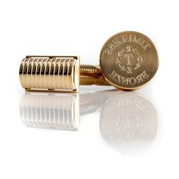 Bronze Safety Razor:  SOLID BAR Base Plate with Stand by Tim