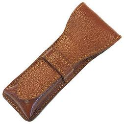 Brown Parker Genuine Leather Double Edge Safety Razor Protec