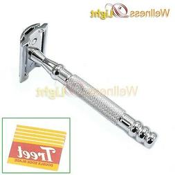 Butterfly Open Double Edge Razor For Men Shaving Safety Razo
