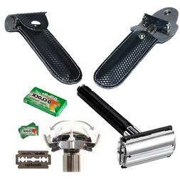 Butterfly Safety Razor & 20 Gillette 7 OClock Double Edge Bl
