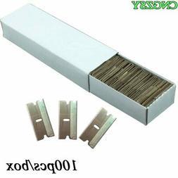 CNGZSY 100pcs Metal Blades Safety Razor Scraper Glue Knife G