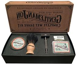 Gentleman Jon Complete Wet Shave Kit | Includes 6 Items:  Sa