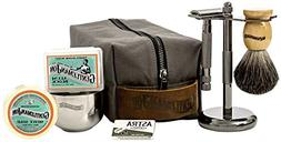 Gentleman Jon Deluxe Wet Shave Kit | Includes 8 Items on Can