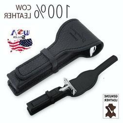 Double Edge Blade Safety Razor case Cover, Black Leather Sha
