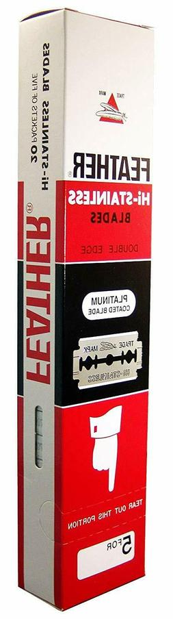 Feather Double Edge Safety Razor Blades Original Made in Jap