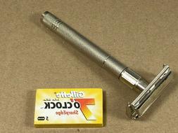 double edge safety razor twist to open