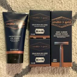 King C Gillette Double Edge Razor 20 Extra Blades And Shave