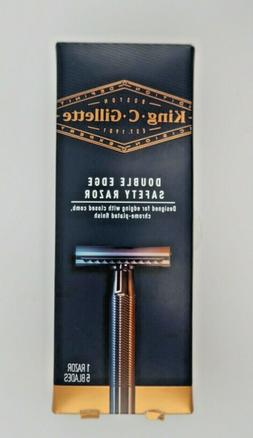 King C. Gillette Double Edge Safety Razor Chrome-Plated Fini
