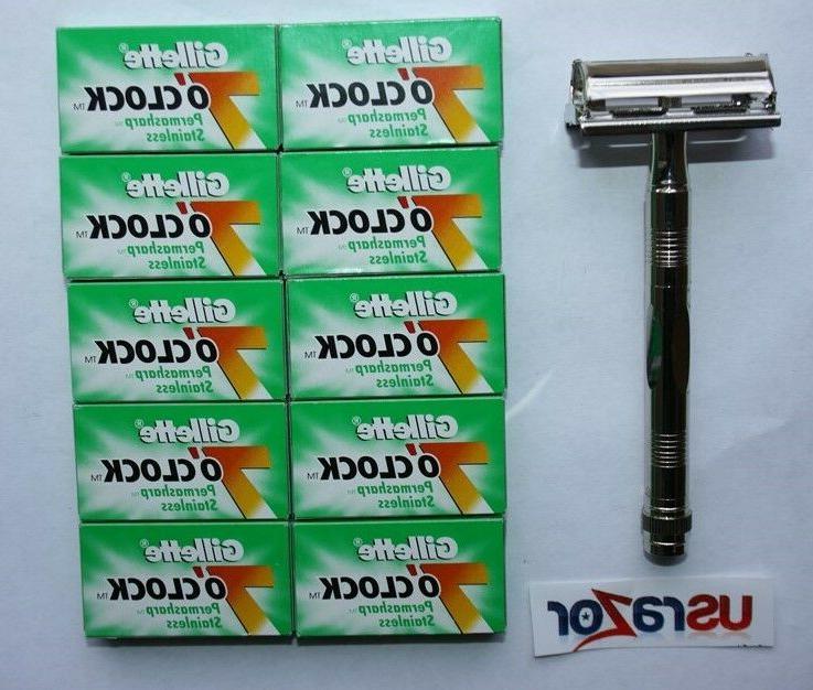 100 7 clock double edge razor blades