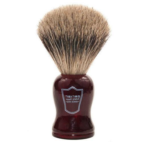 100 percent pure badger shaving brush redwood