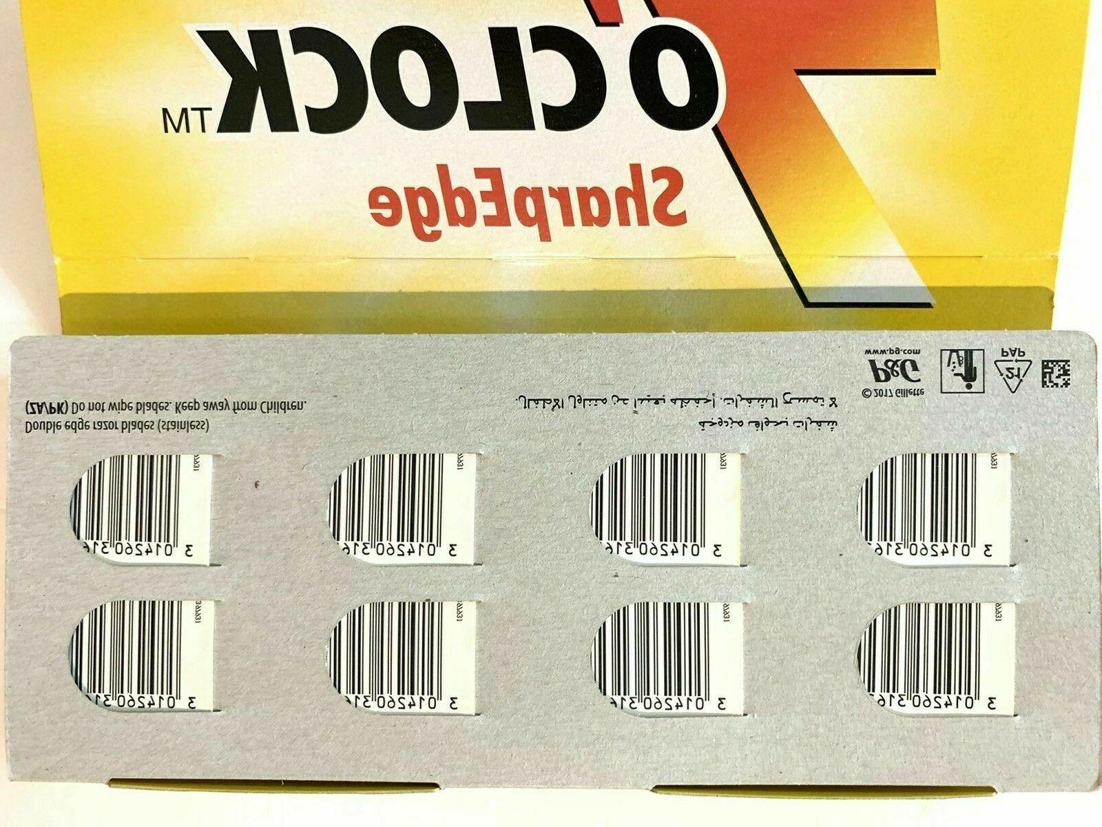 50 count Yellow Sharp Edge Double Edge Safety
