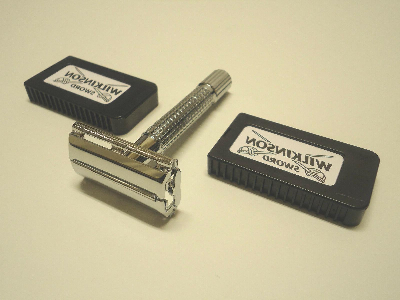 chrome plated old school classic safety razor
