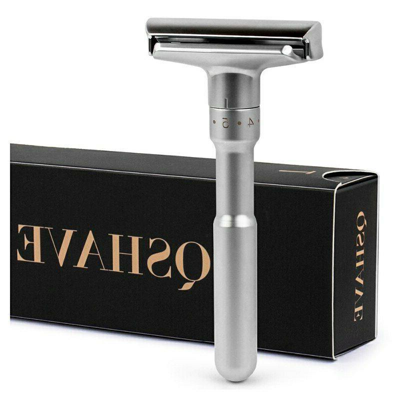 forqshave adjustable safety razor double edge classic