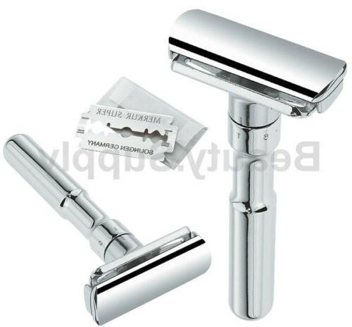 futur 701 adjustable polished chrome double edge