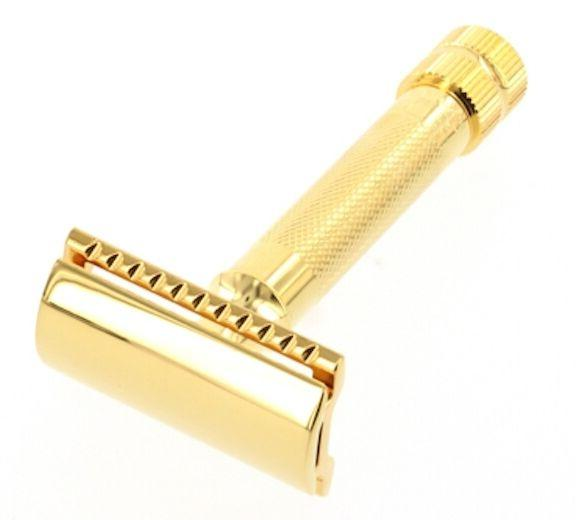 gold plated double edge safety