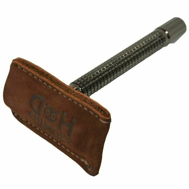 hide drink leather double edge safety razor