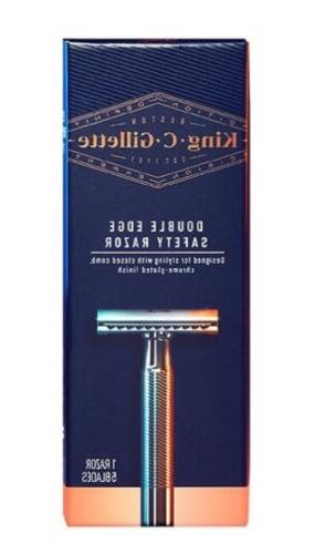 King C Gillette - Chrome-Plated Double Edge Safety, 1 Razor