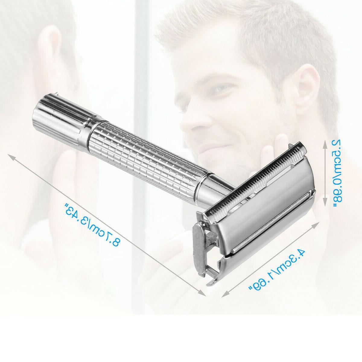 Men Classic Double Edge Shaving Safety Razor + 10 Blades US