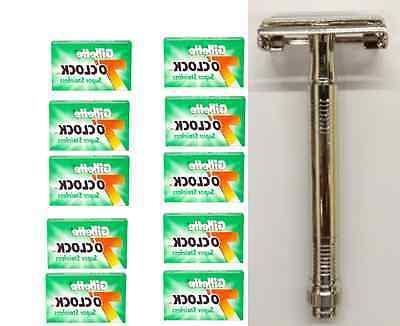 metal double edge butterfly safety razor 50