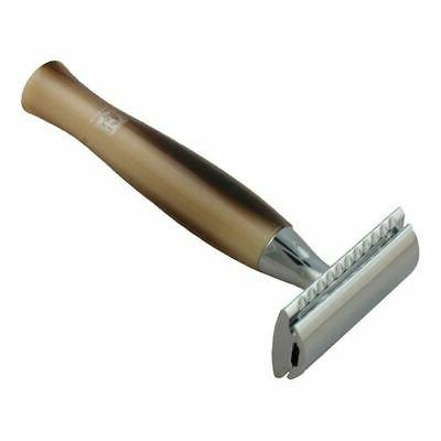 pb double sided safety razor simulated horn