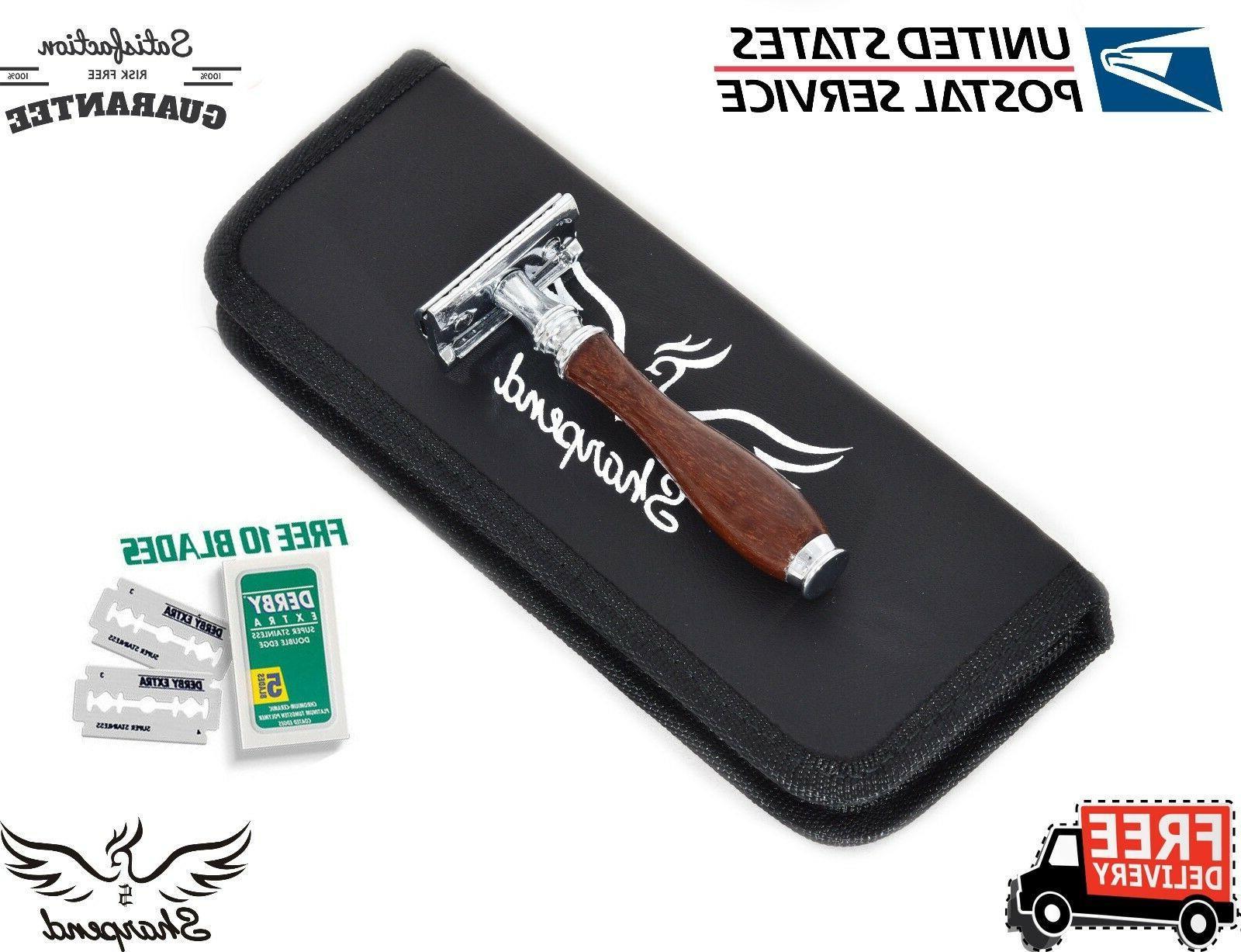 premium double edge safety razor men s