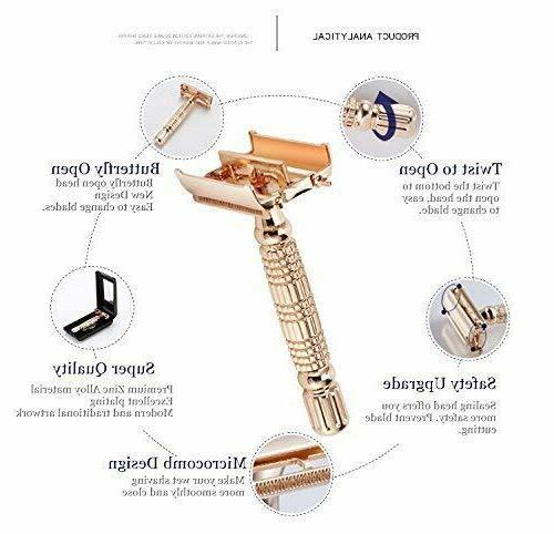 Rose Double Edge Safety Shaver Kit for &