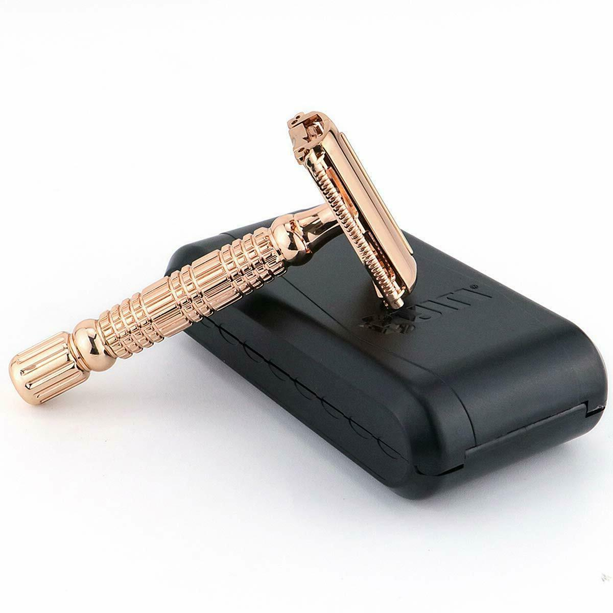 Rose Gold Classic Butterfly Double Safety Shaver Kit &