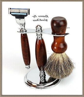 Shaving Razor Set Rare Wood Safety 3 356