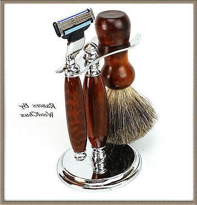 Shaving Razor Set Handmade Rare Snake Safety 3 356