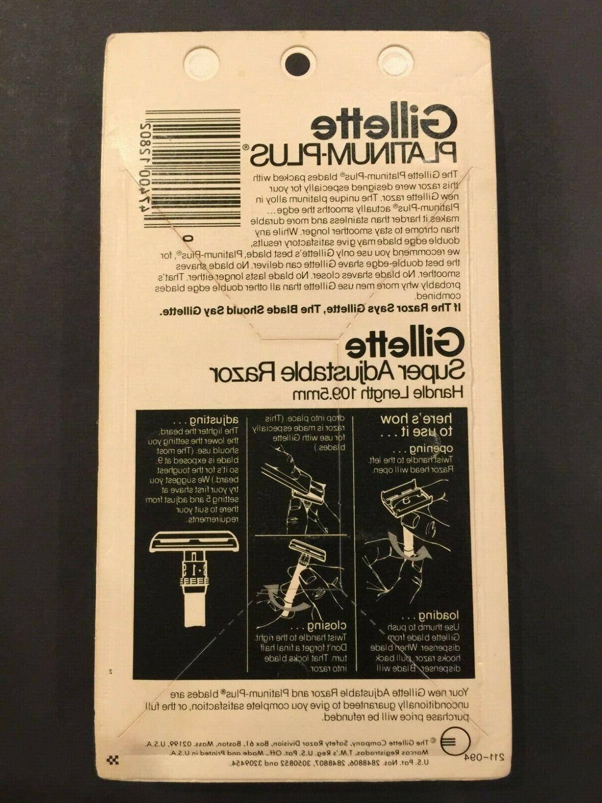 Gillette Super Adjustable Black Beauty 2 Platinum-Plus Blades.