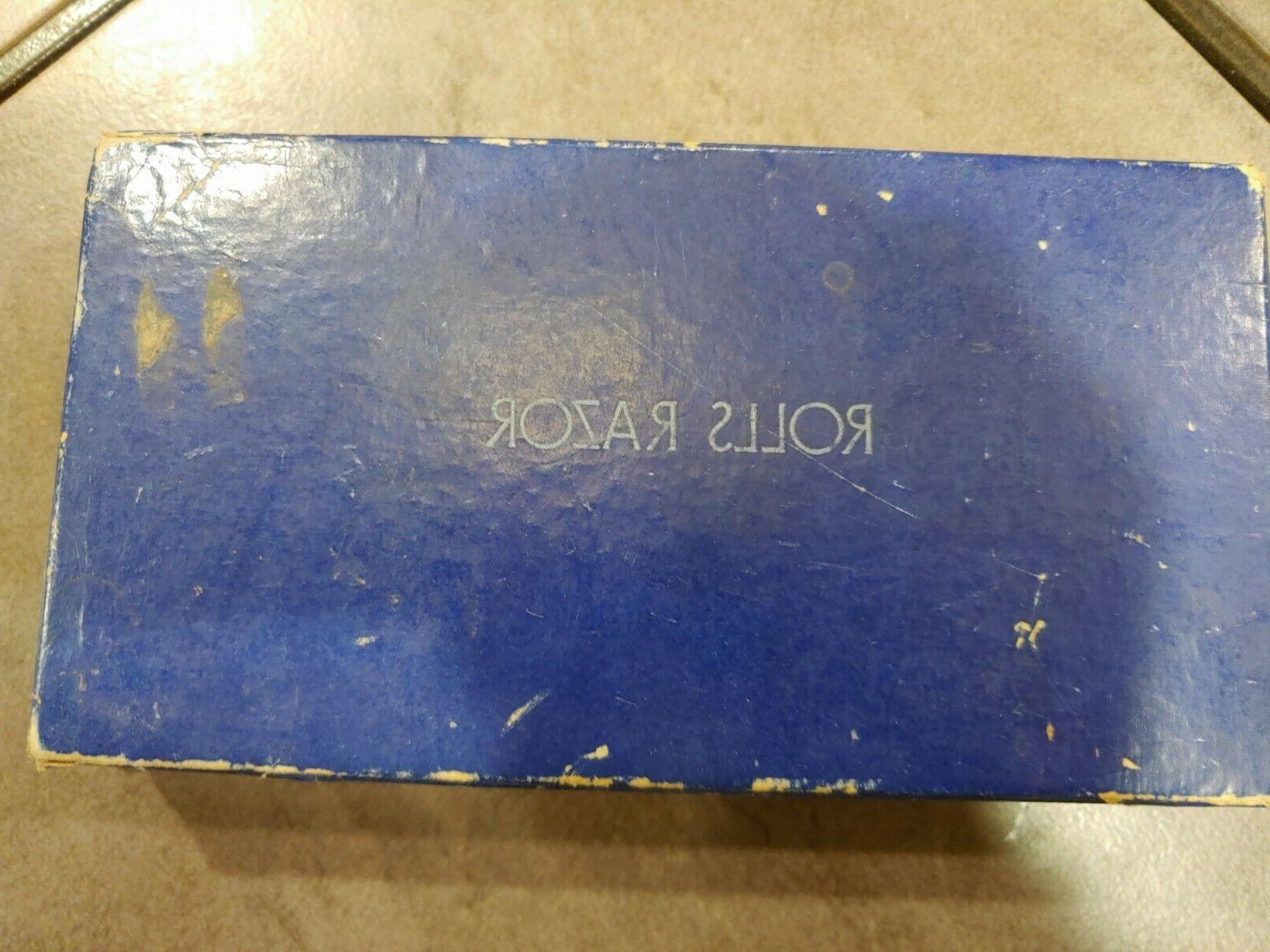 Vintage Rolls Safety Razor With Blade Instructions Case NEW