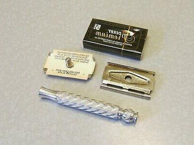 Vintage British Gillette SPIRAL TECH Edge Safety Razor NOS