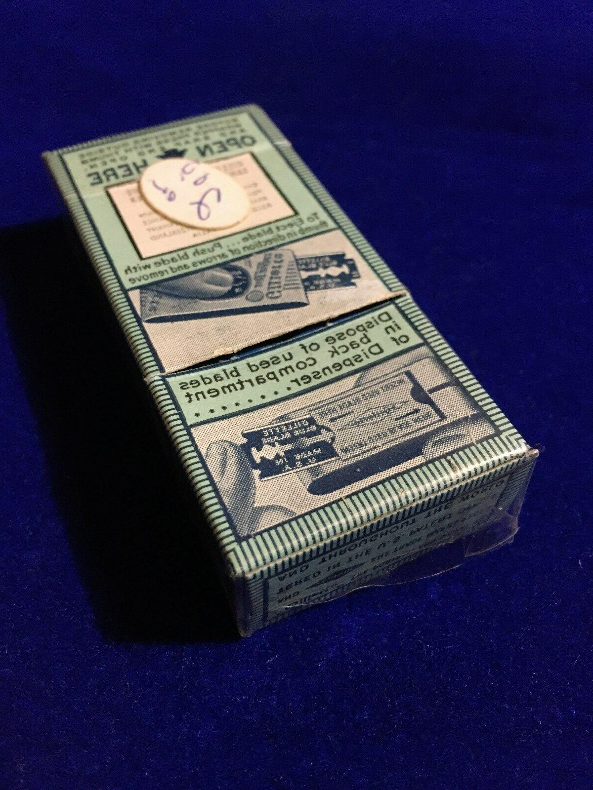 Vintage Gillette Blue Blades 20