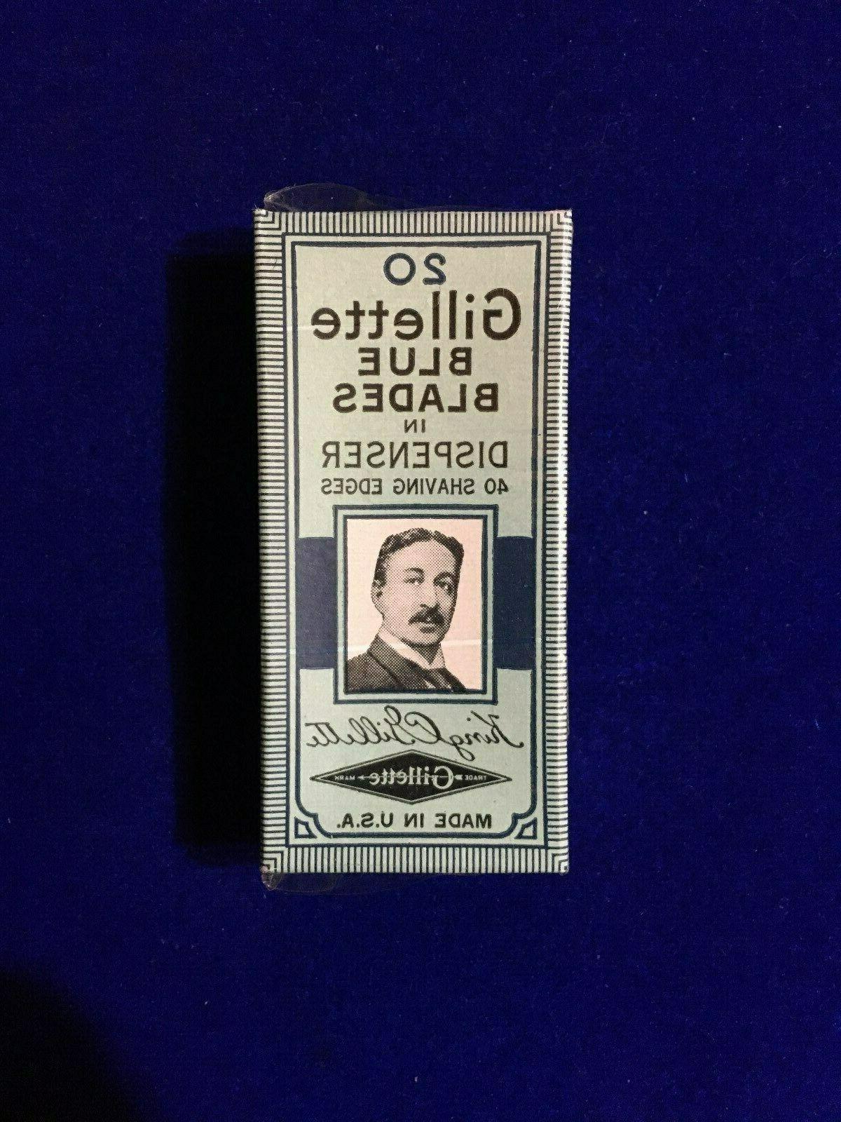 vintage safety razor blue blades 20 pack