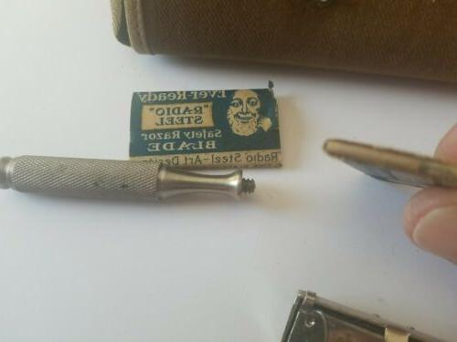 VINTAGE WWII Ever-ready Razor Army Canvas Holder with